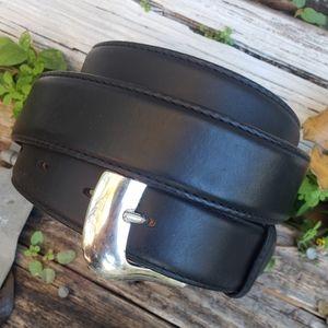 Tony Lama 40 Black Leather Billet Belt 0203L